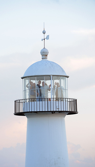 Wedding inside Biloxi Lighthouse